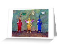 Pikmin: See No Evil, Speak No Evil, Hear No Evil Greeting Card