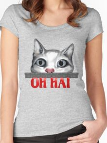 Oh Hai-red Women's Fitted Scoop T-Shirt