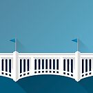 Minimalist Yankee® Stadium - New York (no text) by pootpoot