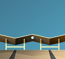 Minimalist Dodger Stadium - Los Angeles (no text) by pootpoot