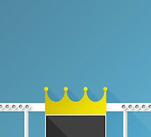 Minimalist Kauffman Stadium - Kansas City (no text) by pootpoot