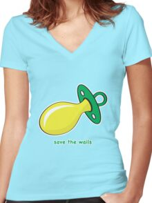 Save the Wails Women's Fitted V-Neck T-Shirt