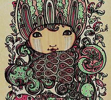 Pink n Mint on Paper by ChiThinner
