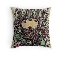 Pink n Mint on Paper Throw Pillow
