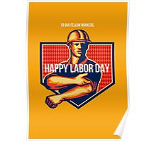 Labor Day Greeting Card Poster Poster