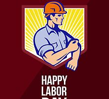 Labor Day Celebration Greeting Card Poster by patrimonio