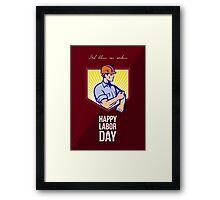 Labor Day Celebration Greeting Card Poster Framed Print