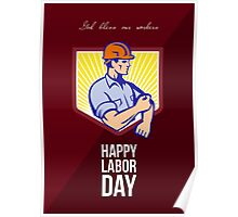 Labor Day Celebration Greeting Card Poster Poster