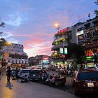 Nightfall of Hanoi, Vietnam by joycecece