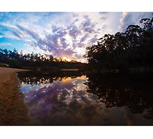 Sunset on the Shoalhaven River Photographic Print