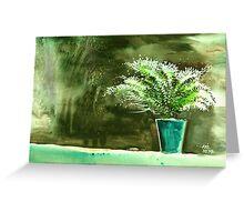 Bay window plant Greeting Card