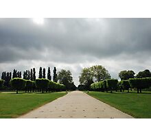 Dark clouds at the end of the path Photographic Print