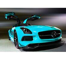 Aqua 2014 Mercedez Benz SLS AMG Photographic Print