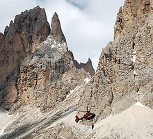 Hanging in the Dolomites by Arie Koene