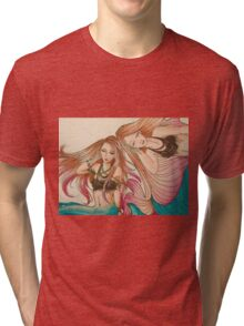 Mermaid Tessellation II Tri-blend T-Shirt