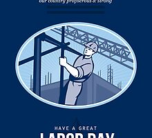 Celebrating Labor Day Greeting Card by patrimonio