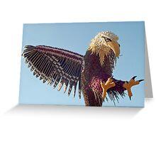 Eagle of vegetables Greeting Card
