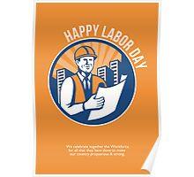 Labor Day Celebration Poster Retro Poster