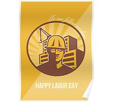 Our Fellow Workers Labor Day Poster Retro Poster