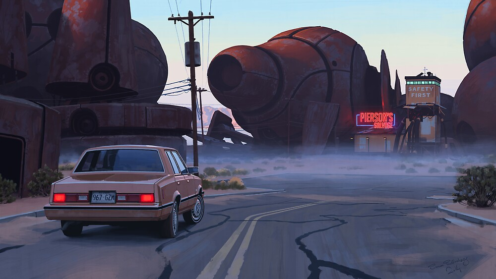 Mojave Metal II by Simon Stålenhag