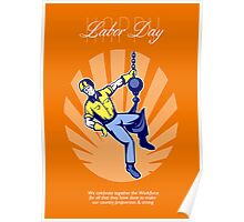 Celebrating Our Workforce Labor Day Greeting Card Poster