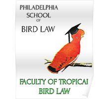 Philadelphia School of Bird Law, Faculty Tropical Law Poster
