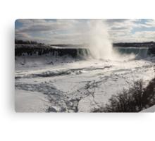 Winter Wonderland - Spectacular Niagara Falls Ice Buildup  Canvas Print