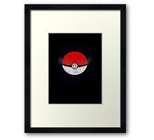 Pokemon Poison Type Pokeball with sleep powder leaking out Framed Print