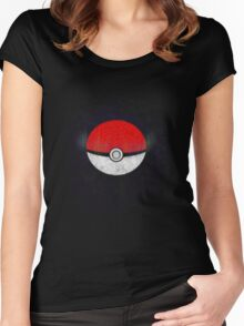 Pokemon Poison Type Pokeball with sleep powder leaking out Women's Fitted Scoop T-Shirt