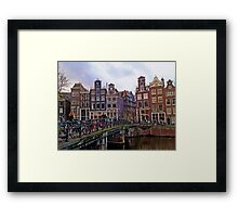 By the Canal - Amsterdam, Holland. Framed Print