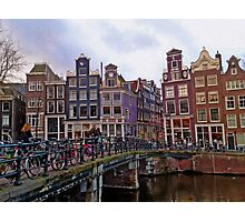 By the Canal - Amsterdam, Holland. Photographic Print