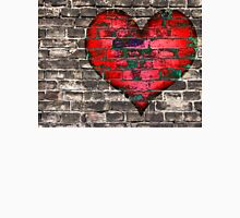 heart on the old broken brick wall Unisex T-Shirt