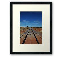 Railway Line - Northern Territory Australia Framed Print