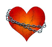 chained heart Photographic Print