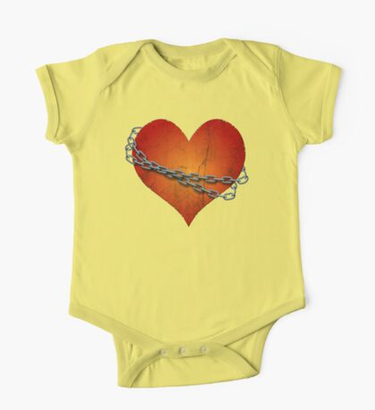 chained heart One Piece - Short Sleeve