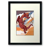 Red Tea Dragon Framed Print
