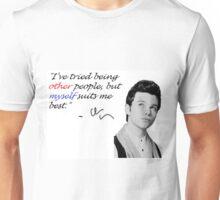 Chris Colfer- Myself suits me best Unisex T-Shirt