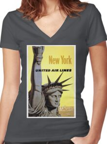 Vintage poster - New York Women's Fitted V-Neck T-Shirt