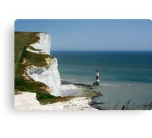 Beachy Head Lighthouse, Seven Sisters, Sussex, England Canvas Print