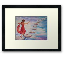 Roses All The Way! Framed Print