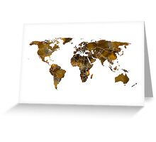 MAP of the WORLD SEPIA TONED Greeting Card