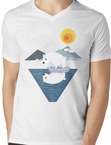 Polar Bear Dilemma Mens V-Neck T-Shirt