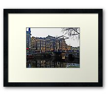 Draw Bridge in Amsterdam Framed Print