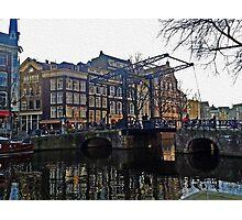 Draw Bridge in Amsterdam Photographic Print