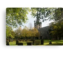 Shakespeare's Burial Place Canvas Print