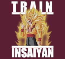 Train insaiyan - super saiyan god Goku by Ali Gokalp