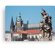 Prague Castle (taken from Charles Bridge) Canvas Print