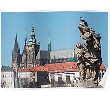 Prague Castle (taken from Charles Bridge) Poster