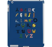 The alphabet of Geekdom iPad Case/Skin