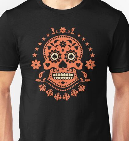 Mexican Day of the Dead Sugar Skull T-Shirt Unisex T-Shirt
